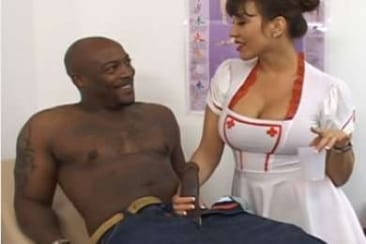 Ava Devine - sexy nurse on black dick